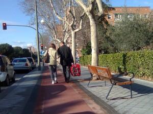 Peatones por el Bidegorri
